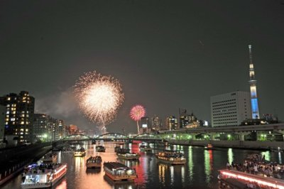 Sumidagawa fireworks festival at the end of July.