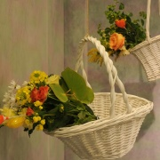 Flower arrangement presentation