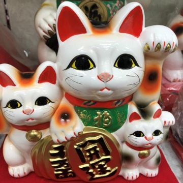 A lucky cat and lucky's specialty store Asakusa Kappabashi Koide shop